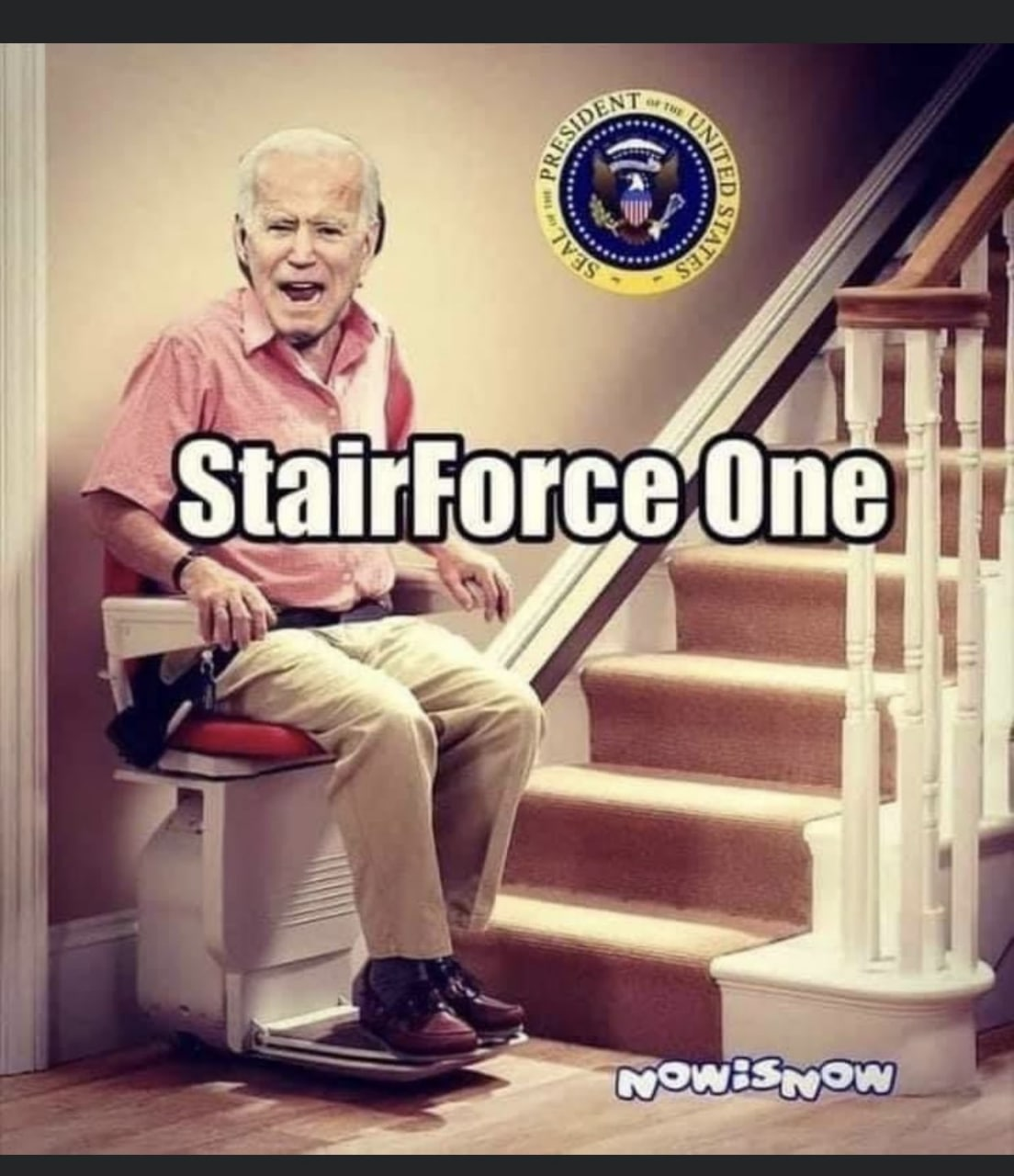 Even the Stairs Are Against Joe Biden